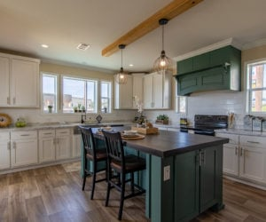 kitchen details in the house model Daisy Mae made by pratt homes tyler