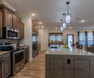 kitchen of the house model Koinonia II made by pratt homes tyler