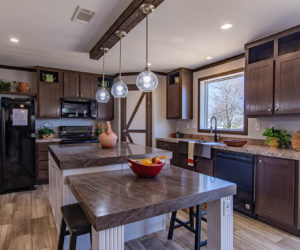 equipped kitchen of the house model leo made by pratt homes tyler texas