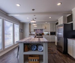 kitchen island in the house model big spur made by pratt homes tyler texas