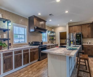 kitchen at the bailey house made by pratt homes tyler tx