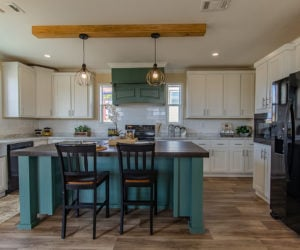 kitchen island in the house model Daisy Mae made by pratt homes tyler texas