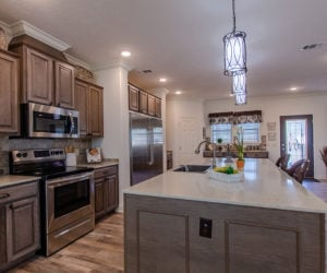 kitchen details of the house model Koinonia II made by pratt homes tyler texas