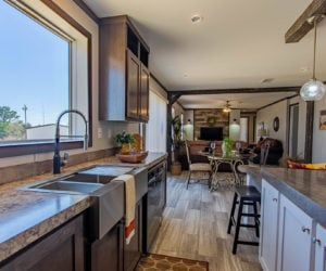 kitchen of the house model leo made by pratt homes tyler texas