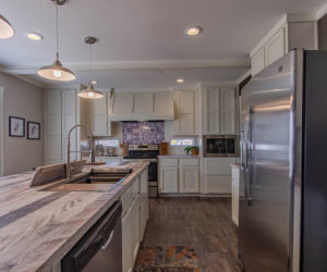 kitchen view in the house model big spur made by pratt homes tyler texas