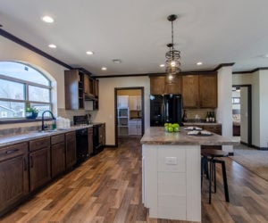 kitchen island in house model double offset made by pratt homes tyler texas