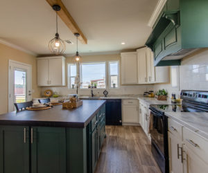 kitchen in the house model Daisy Mae made by pratt homes tyler texas