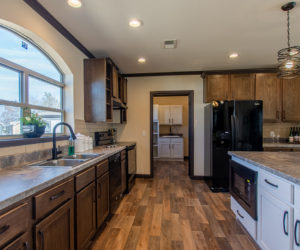 kitchen view in house model double offset made by pratt homes tyler texas