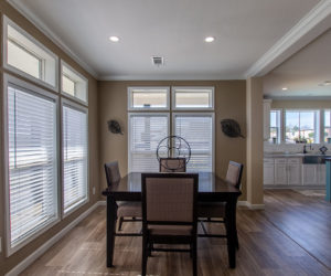 dining room in the house model Daisy Mae made by pratt homes tyler texas