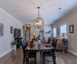 dining room at the bailey house made by pratt homes tyler tx