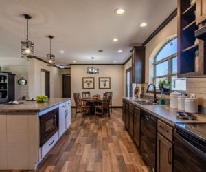 kitchen in house model double offset made by pratt homes tyler texas
