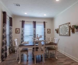 dining room of the house model Koinonia II made by pratt homes tyler texas