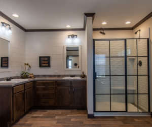master bath in house model double offset made by pratt homes tyler texas