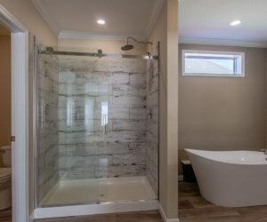 master bathroom in the house model Daisy Mae made by pratt homes tyler texas