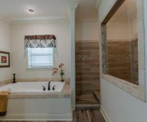 master bathroom of the house model Koinonia II made by pratt homes tyler texas