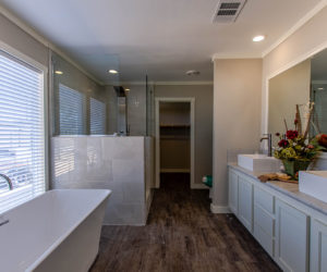 master bath in the house model big spur made by pratt homes tyler texas