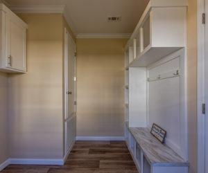 laundry room in the house model Daisy Mae made by pratt homes tyler texas