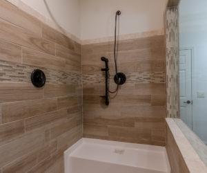 master shower of the house model Koinonia II made by pratt homes tyler texas