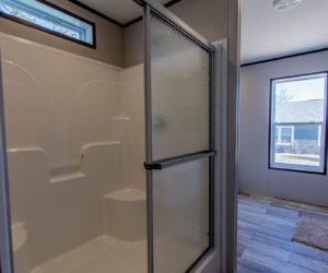 shower of the house model leo made by pratt homes tyler texas
