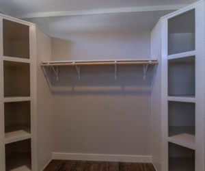 master closet in the house model big spur made by pratt homes tyler texas
