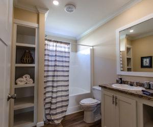 bathroom details in the house model Daisy Mae made by pratt homes tyler texas