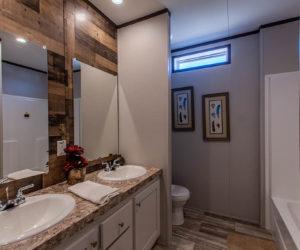 bathroom details of the house model leo made by pratt homes tyler texas