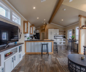 furnished kitchen in house Country Cottage 16 2/1 made by pratt homes tyler