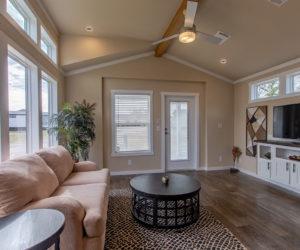 living room in house model cottage 16 2/1 made by pratt homes tyler texas