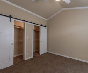 closet in house model cottage 16 2/1 made by pratt homes tyler texas