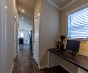 hallway in house model cottage 16 2/1 made by pratt homes tyler texas