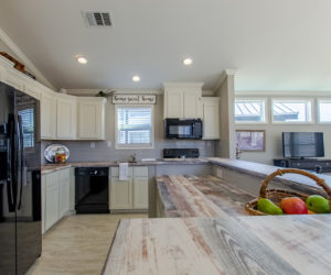kitchen in house model cottage 18 2/1 made by pratt homes tyler texas