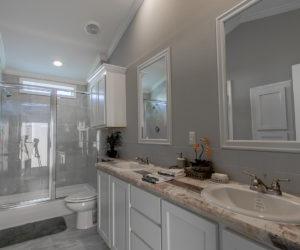 main bathroom in house model cottage 18 2/1 made by pratt homes tyler texas