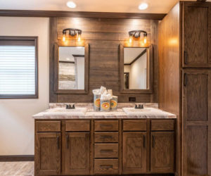 Bathroom details from house model Melissa from Pratt Homes Tyler Texas