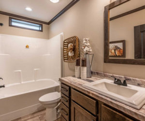bath room from house model Melissa from Pratt Homes Tyler Texas