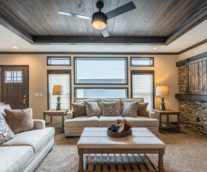 living room with a lot of light from house model Melissa from Pratt Homes