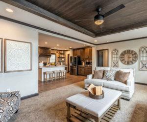 cozy living room from the house model Melissa from Pratt Homes Tyler