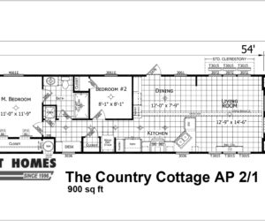 the country cottage AP 2/1 made by pratt homes tyler texas