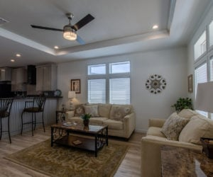 spacious living room at the McKenzie house made by Pratt Homes Tyler