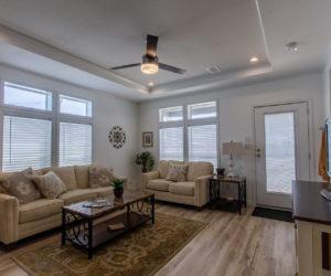 living room at the McKenzie house made by Pratt Homes Tyler