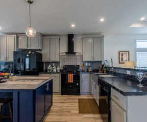 furnished kitchen at the McKenzie house made by Pratt Homes Tyler