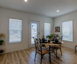 dining room at the McKenzie house made by Pratt Homes Tyler