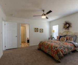 master bedroom at the McKenzie house made by Pratt Homes Tyler