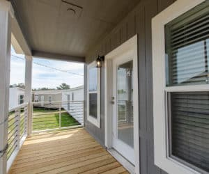 back porch at the McKenzie house made by Pratt Homes Tyler