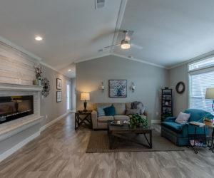 living room in the blake house made by pratt homes tyler tx