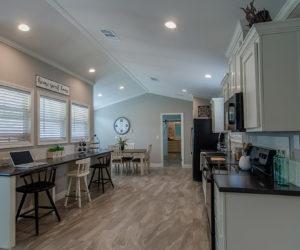 dining room in the blake house made by pratt homes tyler tx