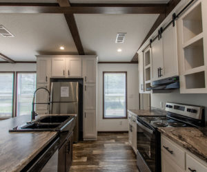 furnished kitchen at the frenchman house made by pratt homes tyler tx
