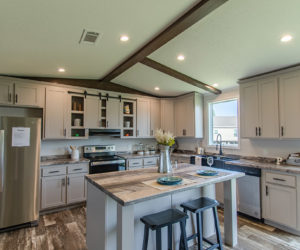 kitchen in the regan house made by prett homes form tyler tx