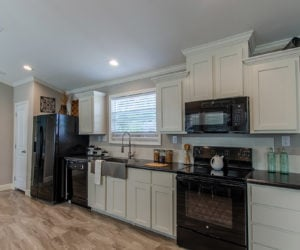 furnished kitchen in the blake house made by pratt homes tyler tx