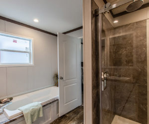master bath at the canal house made by pratt homes tyler tx