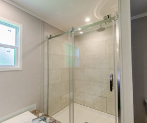 shower at the frenchman house made by pratt homes tyler tx
